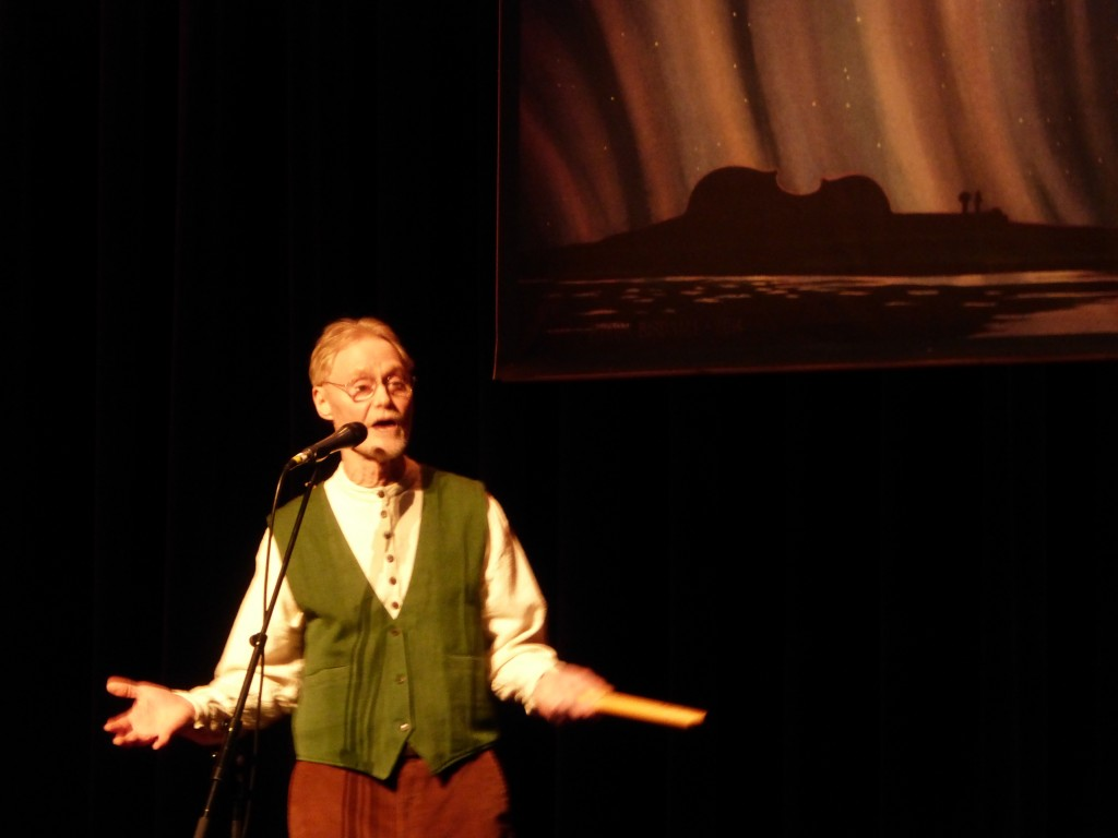 Roger Fuson telling a rollicking tale at Anchorage Folk Festival 2015