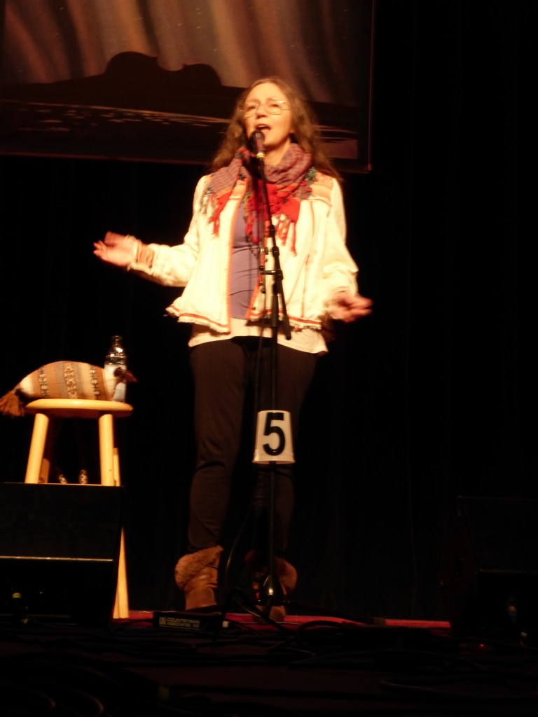 Pam McDowell Saylor tells a traditional tale at the Anchorage Folk Festival (1.18.15)