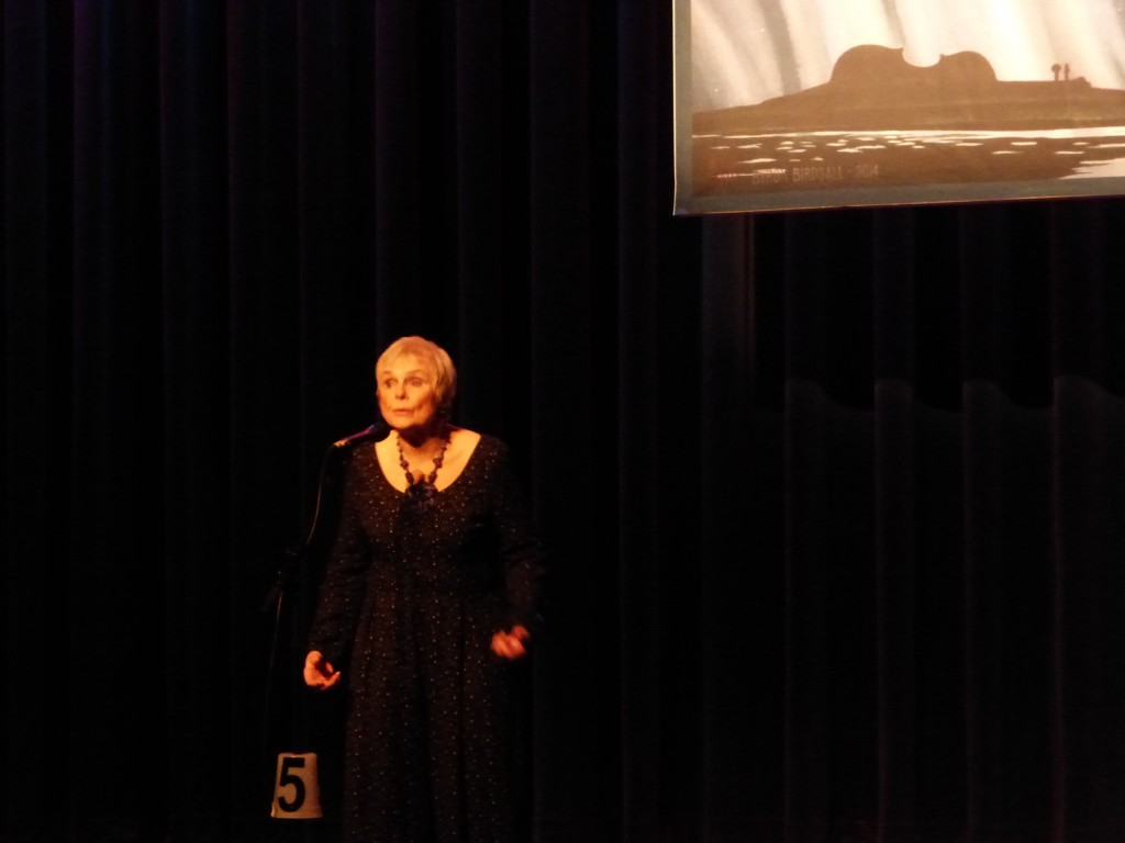 Betty Arnett telling a spooky tale at the Anchorage Folk Festival 2015